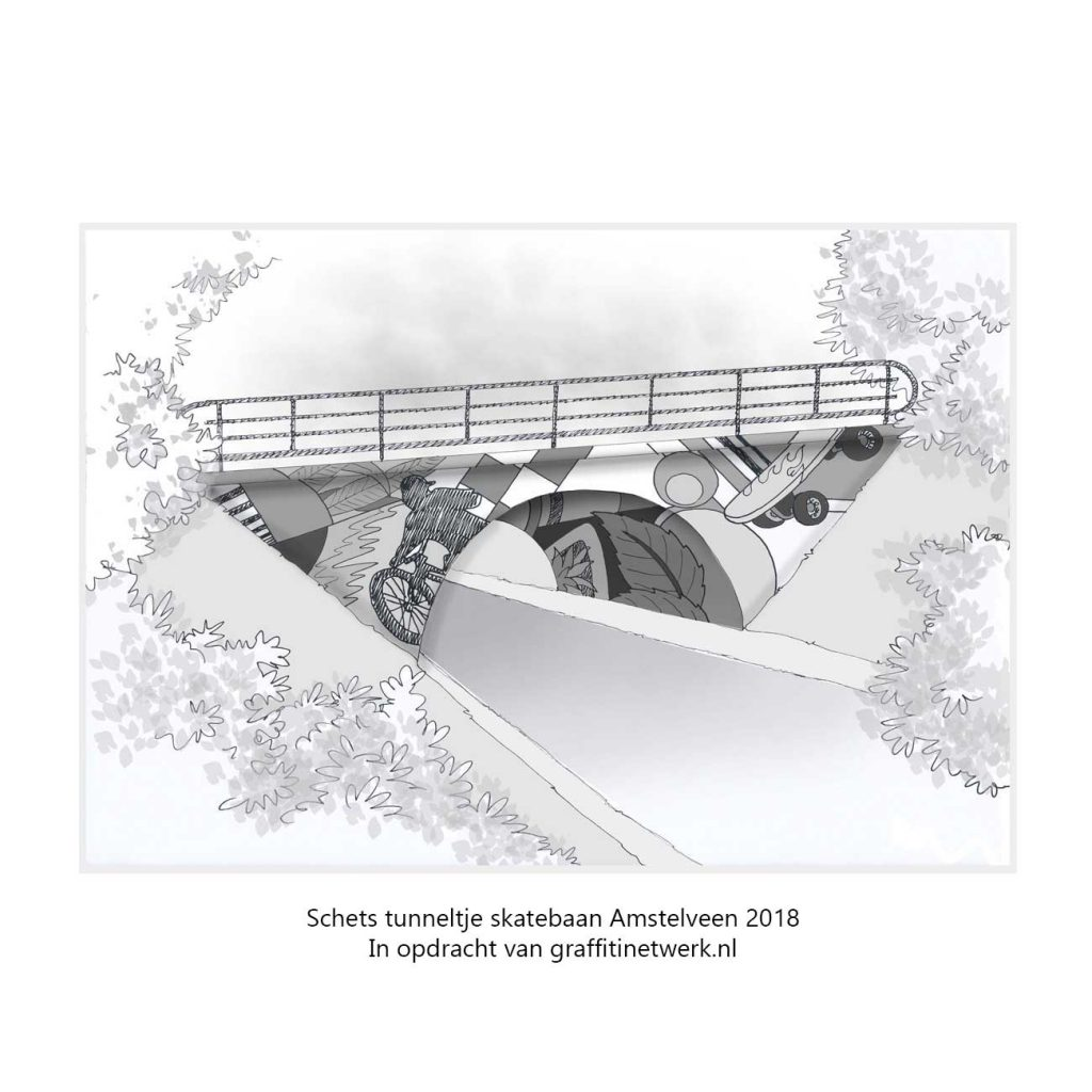 visual tunneltje voor skatebaan amstelveen